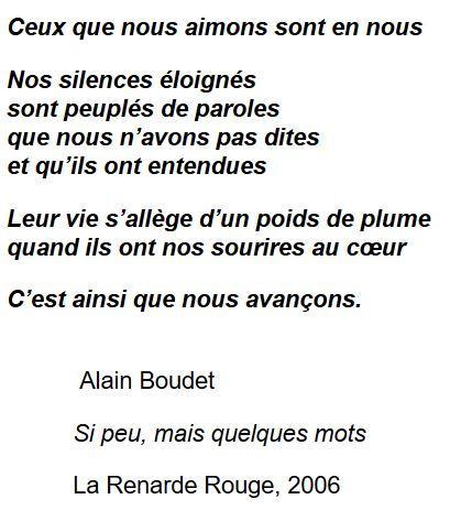 poème d'Alain Boudet